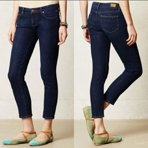 Anthro Paige Kylie Cropped Skinny Jeans Size 28